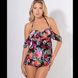 smart & sexy swim tankini floral